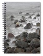 Waves Hitting The Shore Spiral Notebook