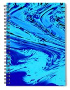Waves Of Abstraction Spiral Notebook