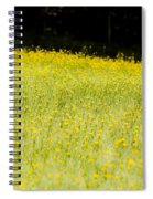 Waves Of Yellow Spiral Notebook