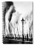 Waves Smashing Seawall, 1938 Spiral Notebook