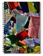 Waving Prayer Flags Spiral Notebook