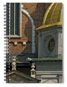 Wawel Domes In Krakow Poland Spiral Notebook
