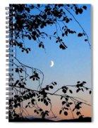 Waxing Crescent Moon Spiral Notebook