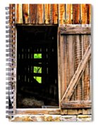 Weathered Barn Door Spiral Notebook