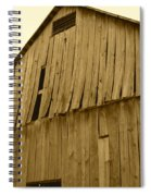 Weathered Barn I In Sepia Spiral Notebook
