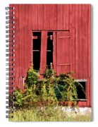 Weathered Broken Red Barn Window Of New Jersey Spiral Notebook