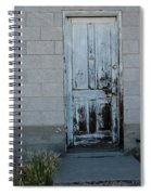 Weathered Door Virginia City Nevada Spiral Notebook