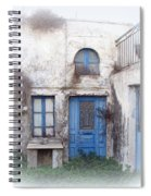 Weathered Greek Building Spiral Notebook