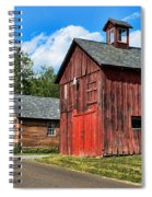 Weathered Red Barn Spiral Notebook