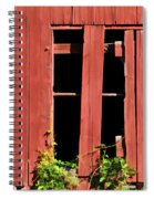 Weathered Red Barn Window Of New Jersey Spiral Notebook