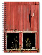 Weathered Red Barn Windows Of New Jersey Spiral Notebook