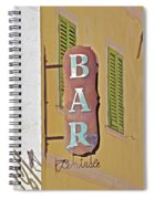 Weathered Rustic Metal Bar Sign Spiral Notebook