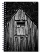 Weathered Structure - Bw Spiral Notebook