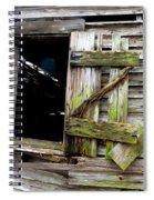 Weathered Wood Window Spiral Notebook