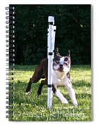 Weave Pole Wonder Spiral Notebook