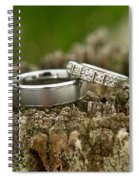 Wedding Bands And Fence Post 12 Spiral Notebook
