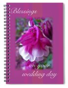 Wedding Blessings Greeting Card - Columbine Blossom Spiral Notebook