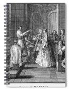 Wedding, C1730 Spiral Notebook