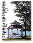 Wedding Gazebo By Lake Erie At Evangola State Park Spiral Notebook