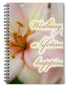 Wedding Happiness Greeting Card - Lilies Spiral Notebook
