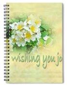 Wedding Wishing You Joy Greeting Card - Wildflower Multiflora Roses Spiral Notebook
