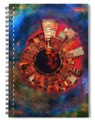 Wee Manhattan Planet - Artist Rendition Spiral Notebook