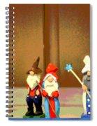 Wee Wooden People Spiral Notebook