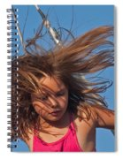 Weightless Hair Spiral Notebook