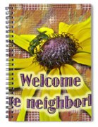 Welcome New Neighbor Card - Bee And Black-eyed Susan Spiral Notebook