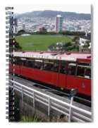 Tram Car Viewpoint - Wellington, New Zealand Spiral Notebook