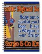 Wells Fargo Banner, 1914 Spiral Notebook