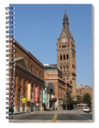Wells Street Theater District And City Hall Spiral Notebook