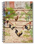 Welsh Farm Cockerels On Patrol Spiral Notebook