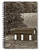 West Virginia Sepia Spiral Notebook