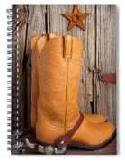 Western Boots And Spurs Spiral Notebook