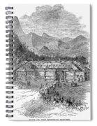 Western Fort, 19th Century Spiral Notebook