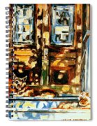 Westmount Porch In Early Autumn Montreal City Scene  Spiral Notebook