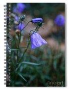 Wet Bellflower Spiral Notebook
