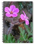 Wet Geranium  Spiral Notebook