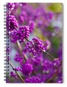 Wet Purple Spiral Notebook