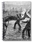 Whaling At Shore, 1875 Spiral Notebook