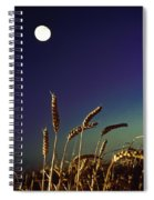 Wheat Field At Night Under The Moon Spiral Notebook