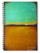 Wheat Field At Sunset Spiral Notebook