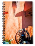 Wheel And Ice Spiral Notebook