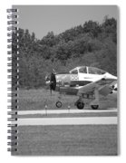 Wheels Up Black And White Spiral Notebook