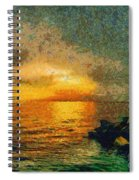 When The Sun Mets The Sea Spiral Notebook