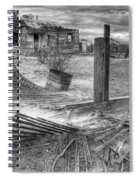 Where Does The Story End Monochrome Spiral Notebook