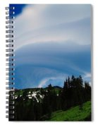 Whirling Clouds  Spiral Notebook