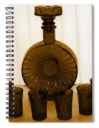 Whiskey Decanter In Sepia Spiral Notebook