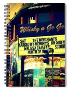 Whisky A Go Go Bar On Sunset Boulevard Spiral Notebook
